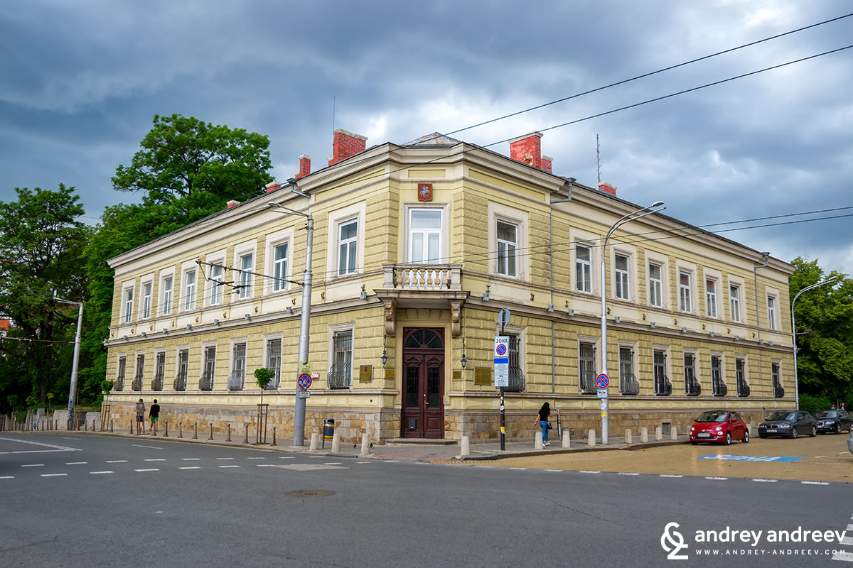 The building of the House of Moscow in Sofia city centre, Bulgaria