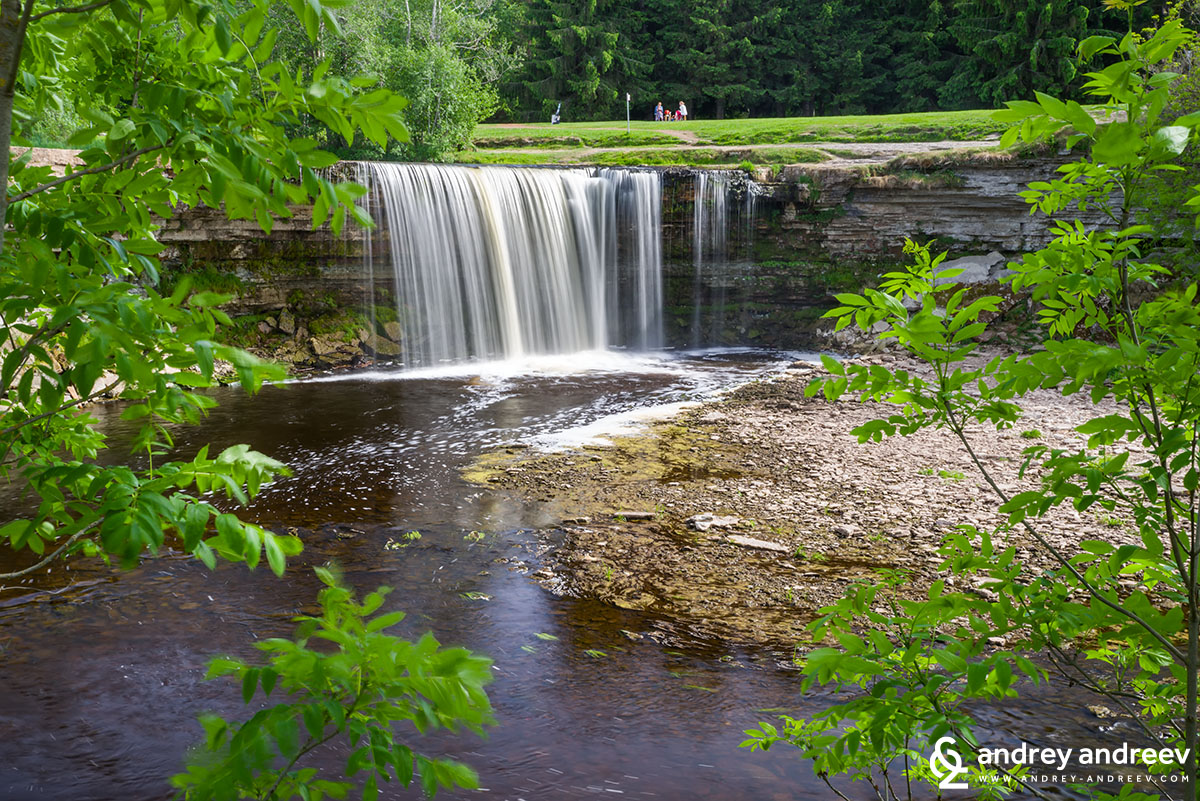 Jagala waterfall, one of the fullest waterfalls in Estonia