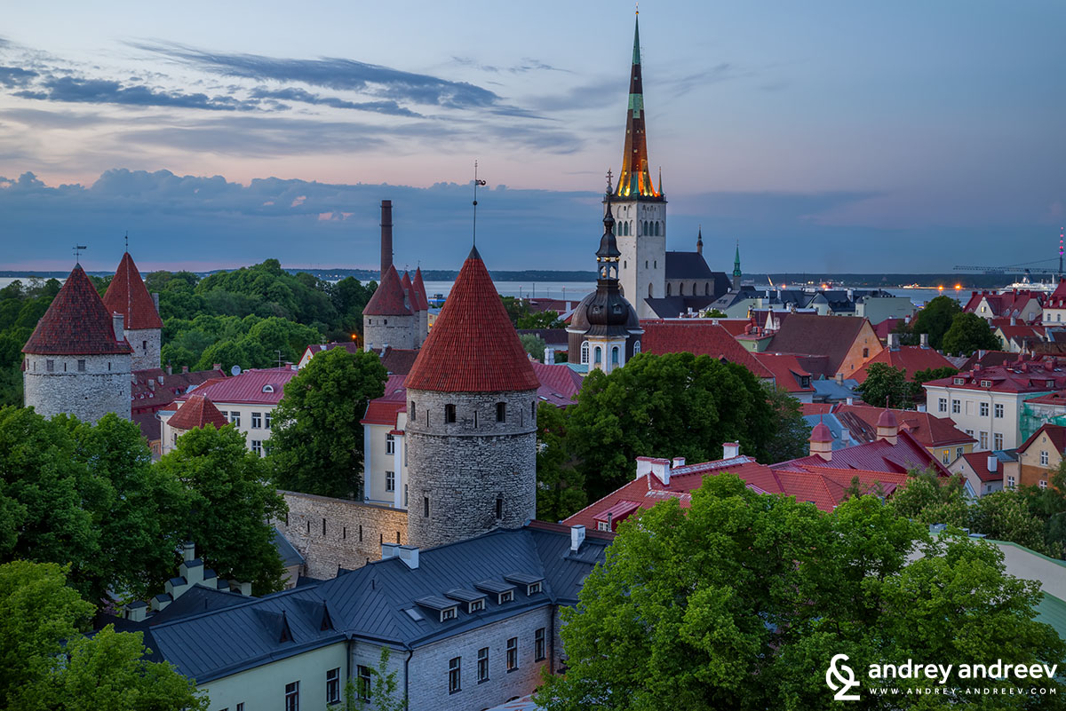 Tallinn and the St. Olaf church tower, once the tallest building in the world in 15-16 century