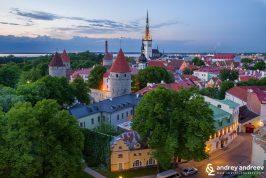 Старият град в Талин, Естония,