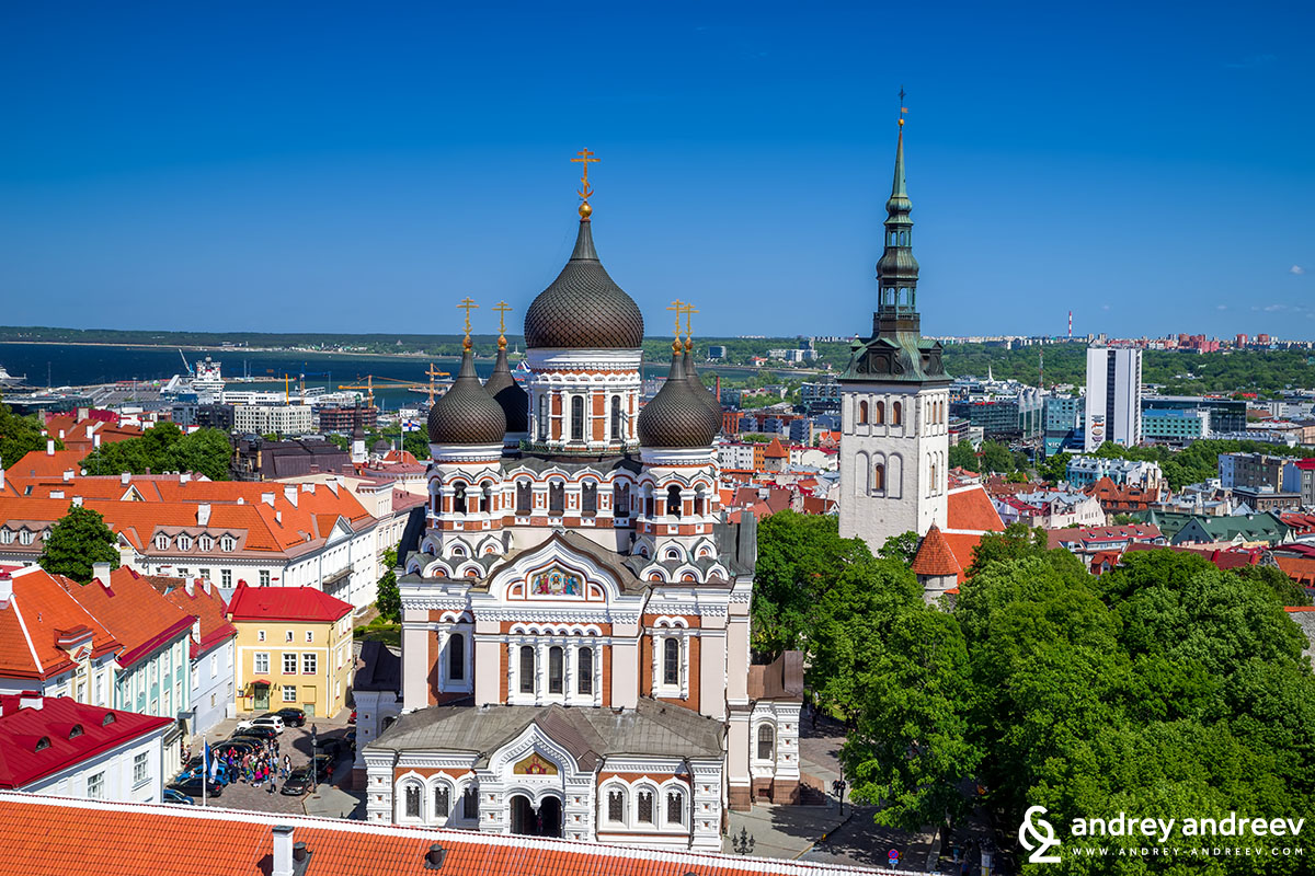 St. Alexander Nevsky church, seen from Toompea tower