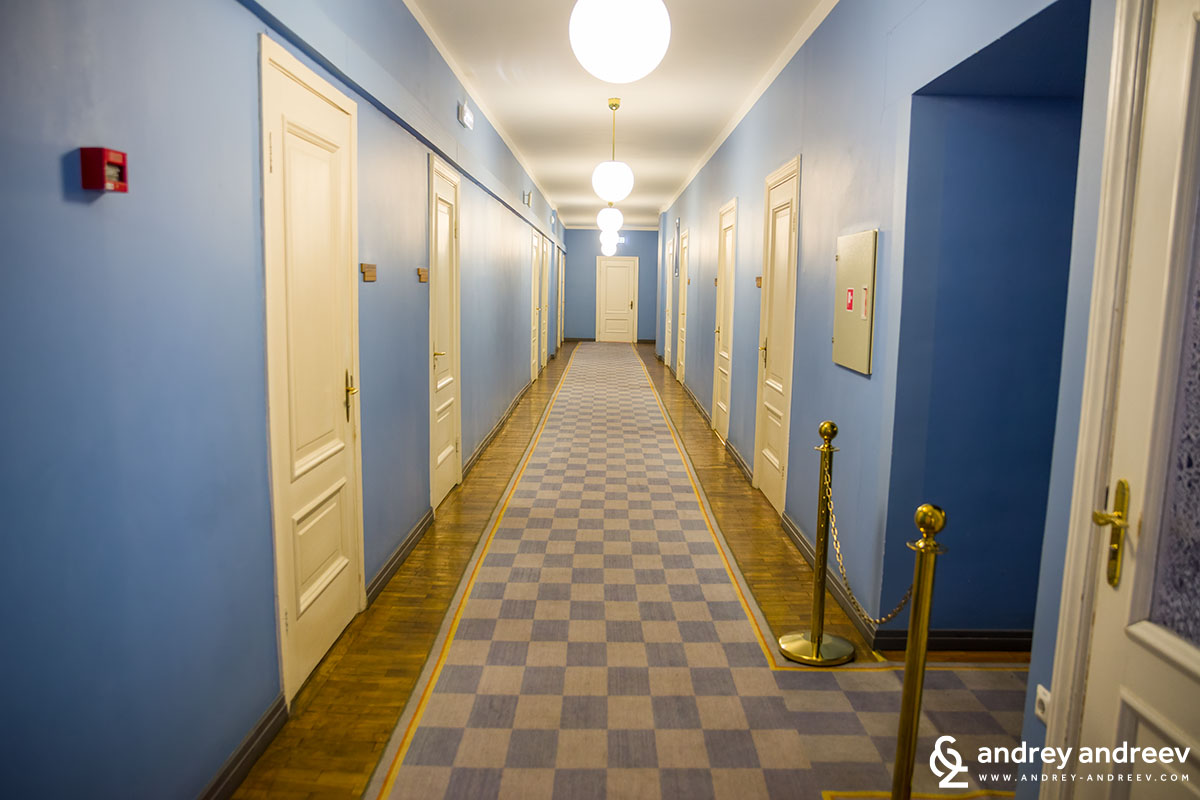 Corridors of the Estonian parliament