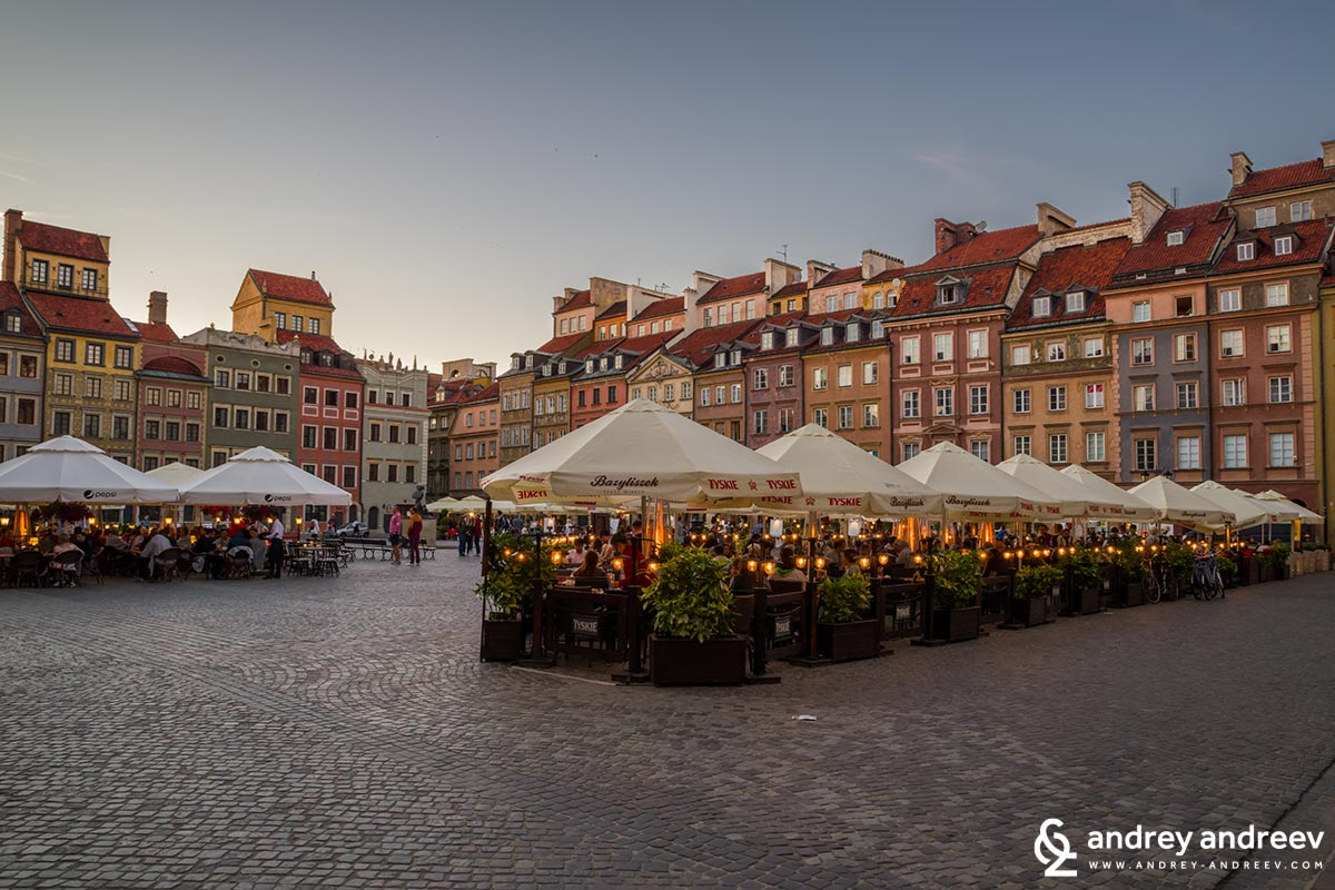 The central square in Warsaw Old Town