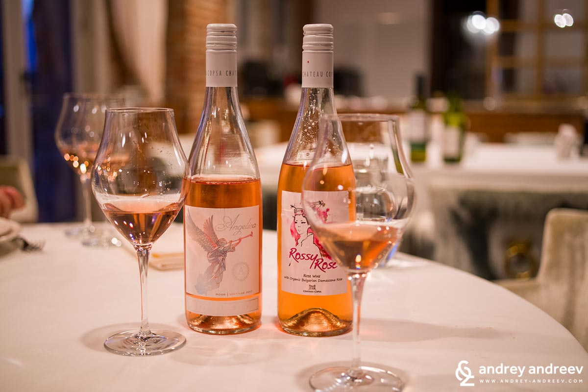 Two sister Rose wines - Rose Angelica and Rossy Rose