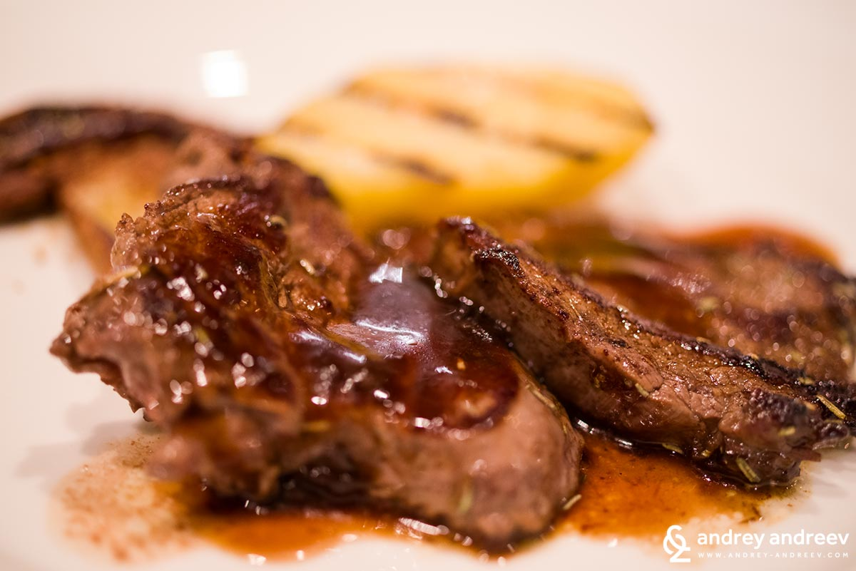 According to Maria, this veal looks even more delicious when shot from so close