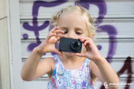 Ани снима с екшън камера