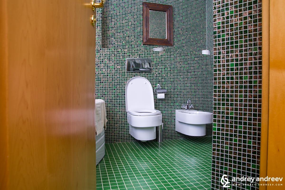 Bathroom at hotel Soli Invicto