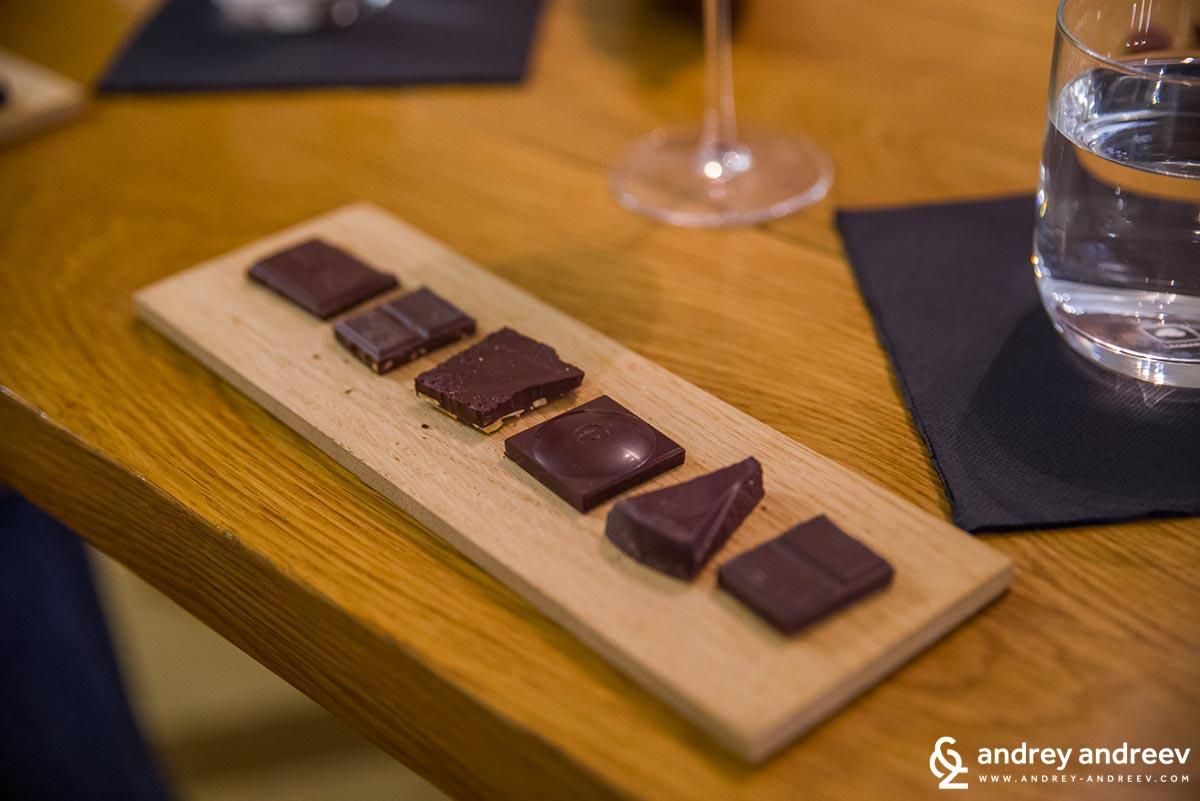 Шоколадчетата за дегустиране