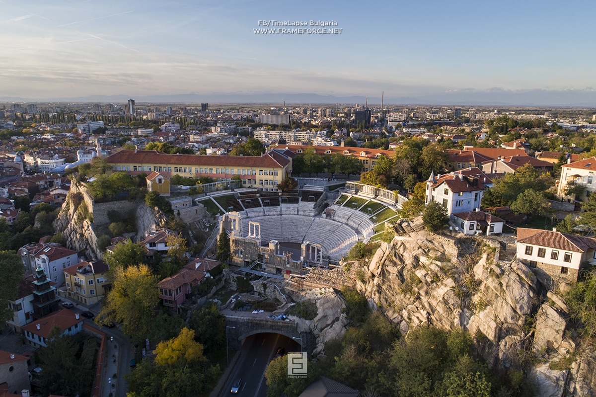 The amazing Roman theatre in Plovdiv, seen from the air. Thanks to my friend Stefan from TimeLapse Bulgaria for this amazing photo. https://www.facebook.com/TimeLapseBulgaria/
