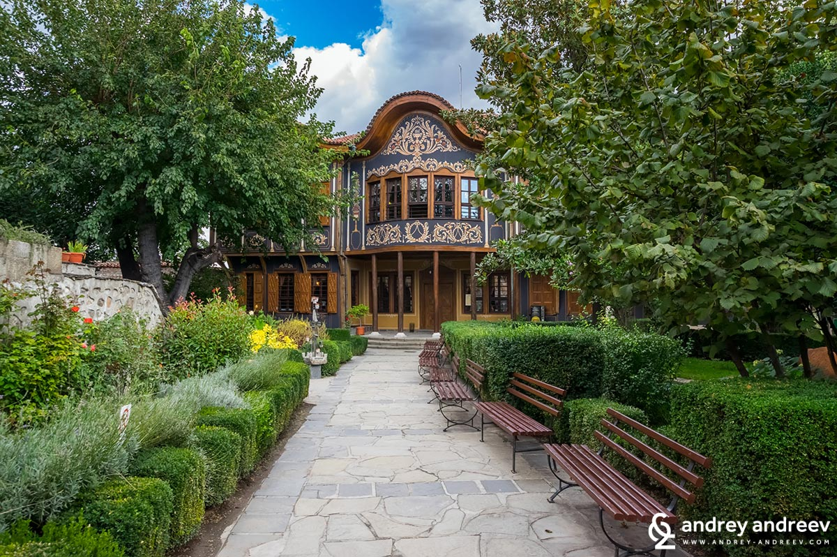 The beautiful wooden building of the Etnographic museum in PLovdiv