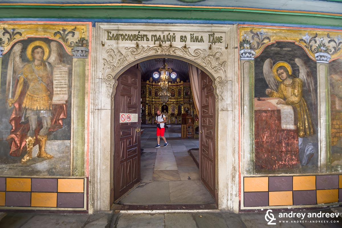The entrance to the beautiful St. Constantine and Helena church
