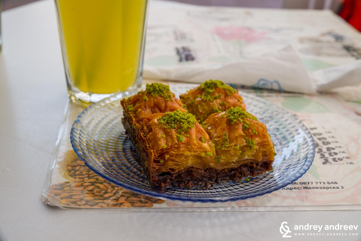 Yummy! Baklava at Dzhumayata sweet house