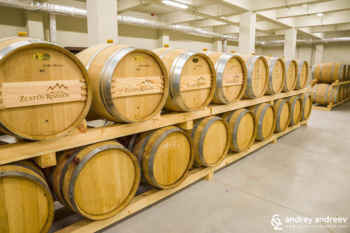 The barrels in Zlaten Rozhen become more and more