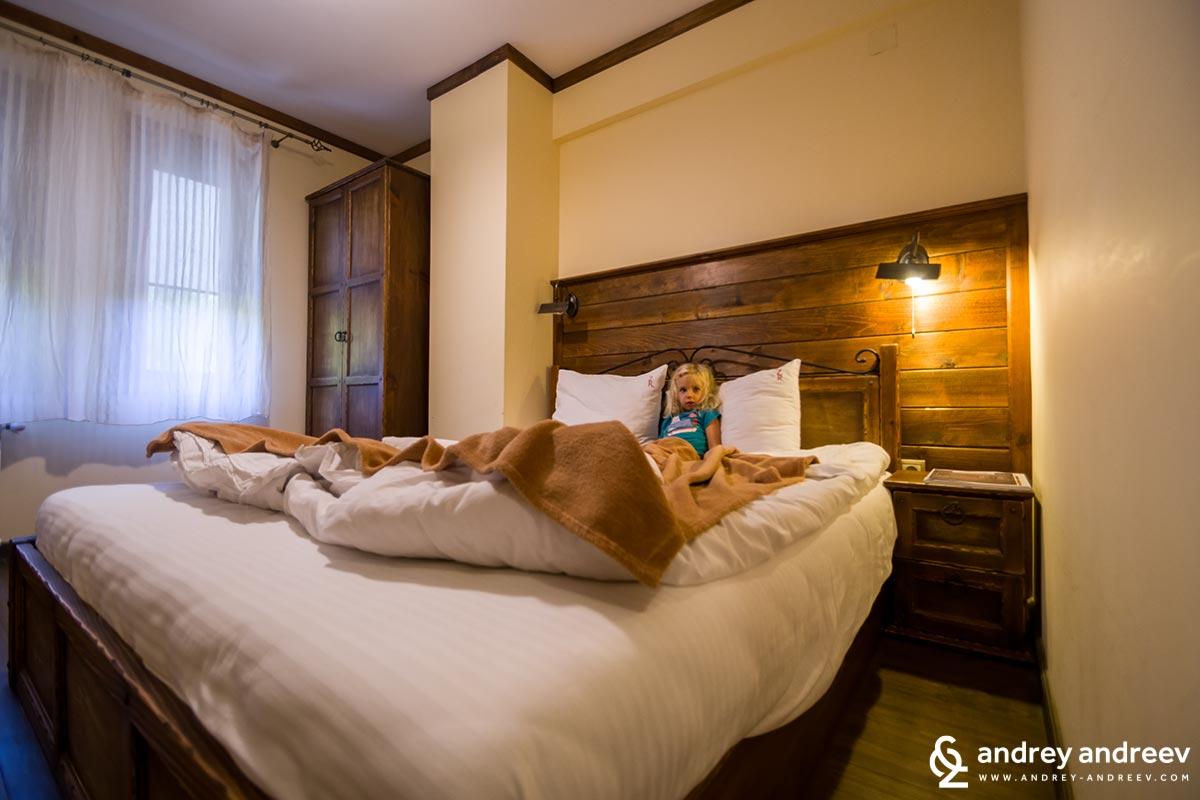 Anna resting in her own room at Zlaten Rozhen hotel