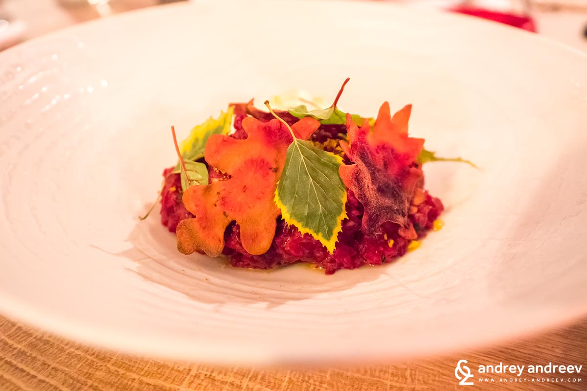 Autumn in a dish in restaurant Ahora - one of the most amazing restaurants in Sofia