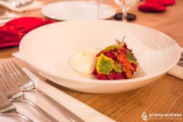 Част от есенното меню на ресторант Аора
