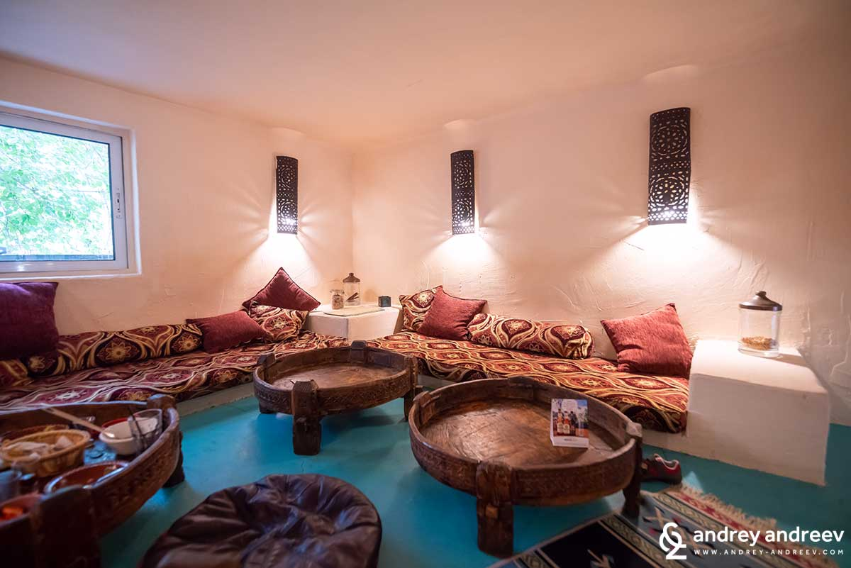 The second floor or Annette restaurant - the Moroccan restaurant in Sofia Bulgaria