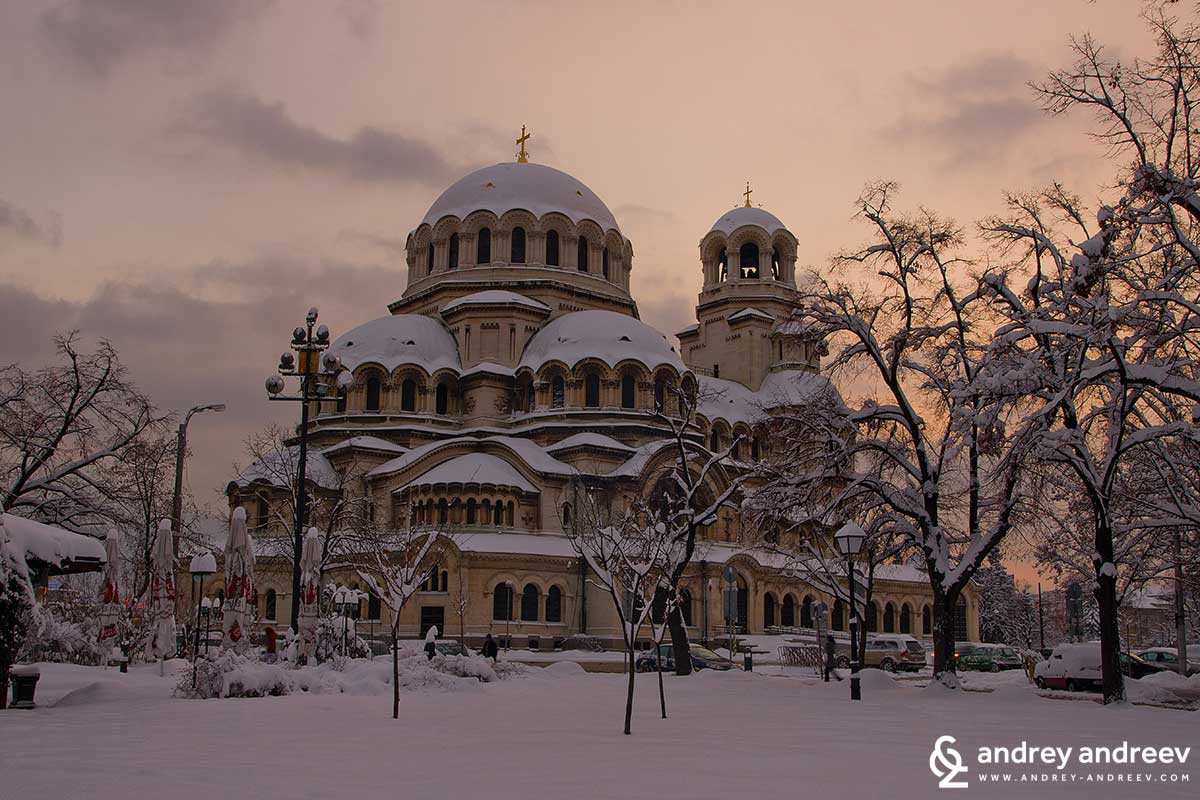 St. Alexander Nevsky cathedral in the winter