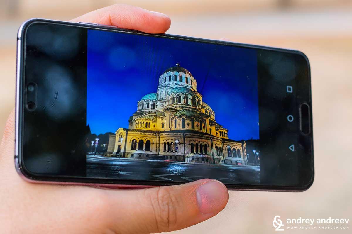 """Храм-паметник """"Св. Александър Невски"""", сниман с Huawei P20Pro"""