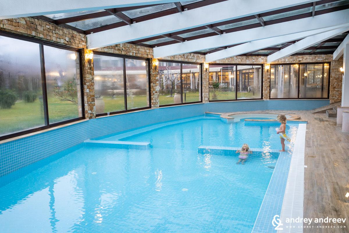 Детския басейн в хотел Свети Спас във Велинград