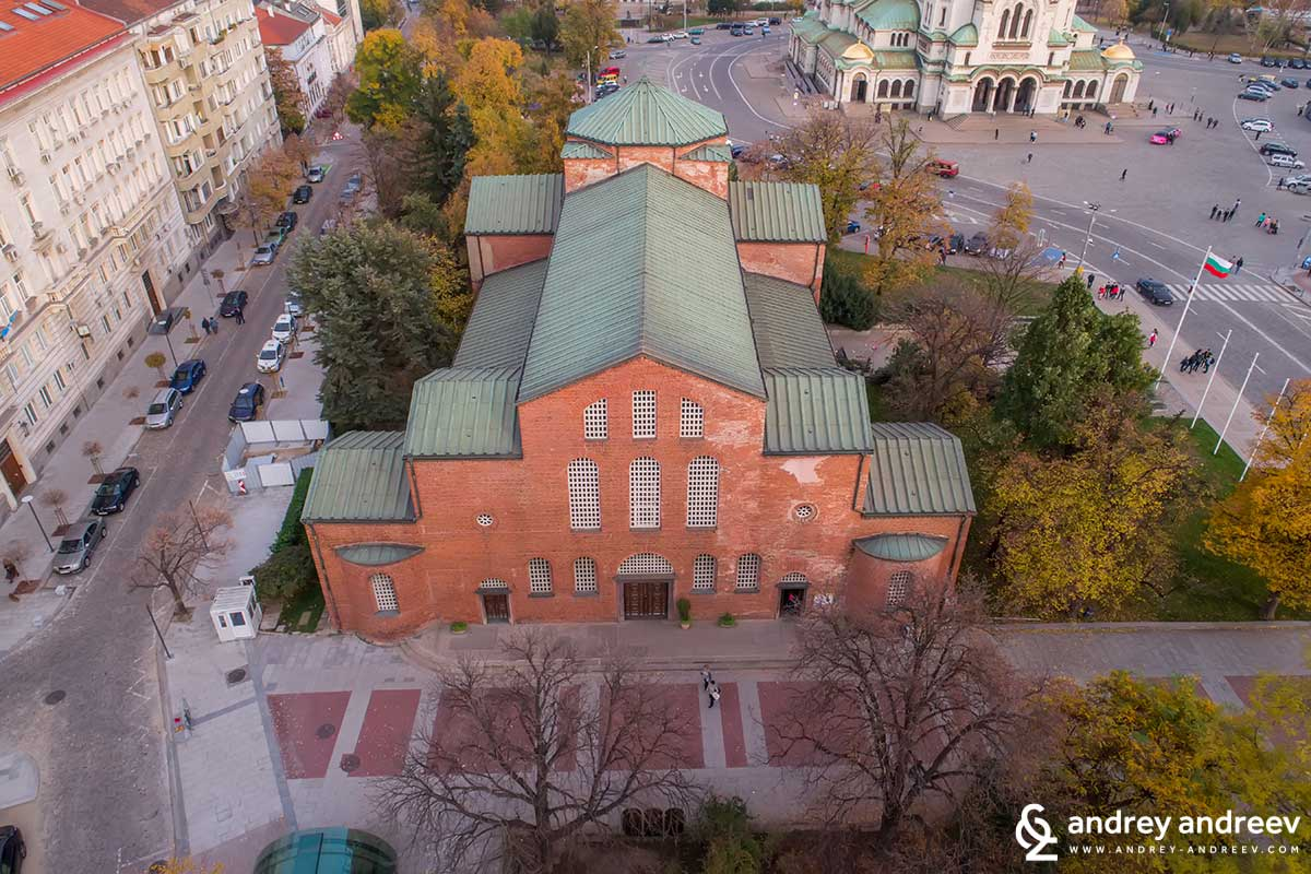 Saint Sofia church from a bird's eye