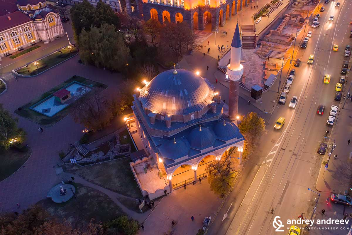 Banya Bashi Mosque in Sofia  Bulgaria