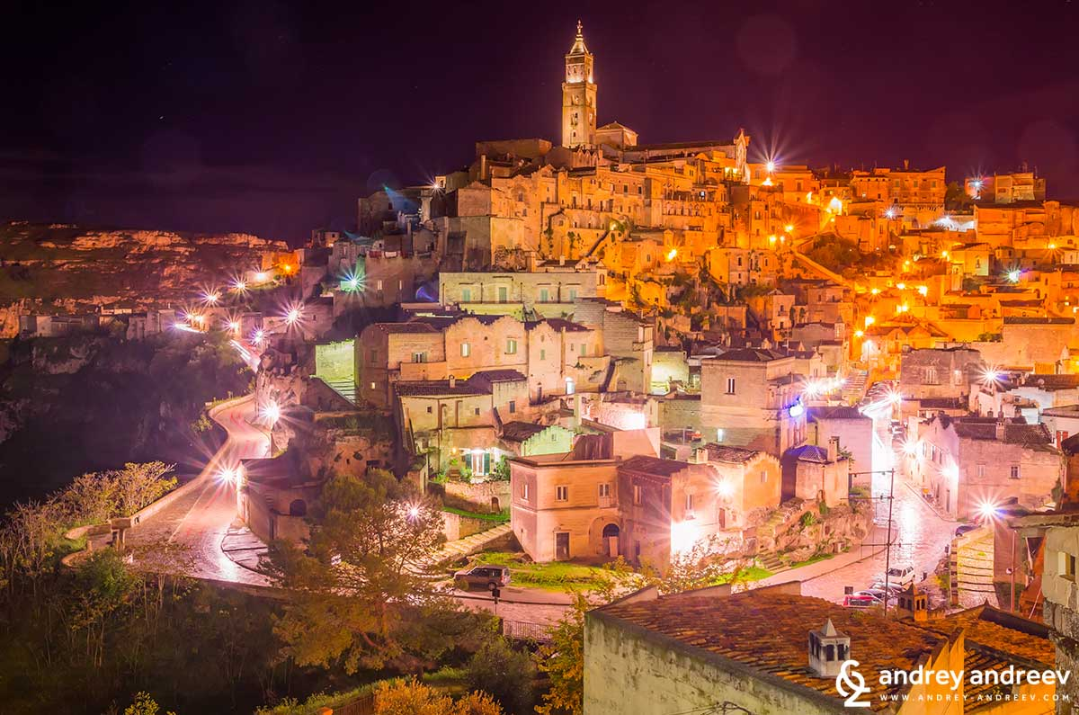 The night streets of Matera