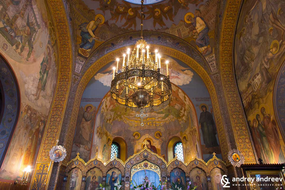 The interior of the Russian church