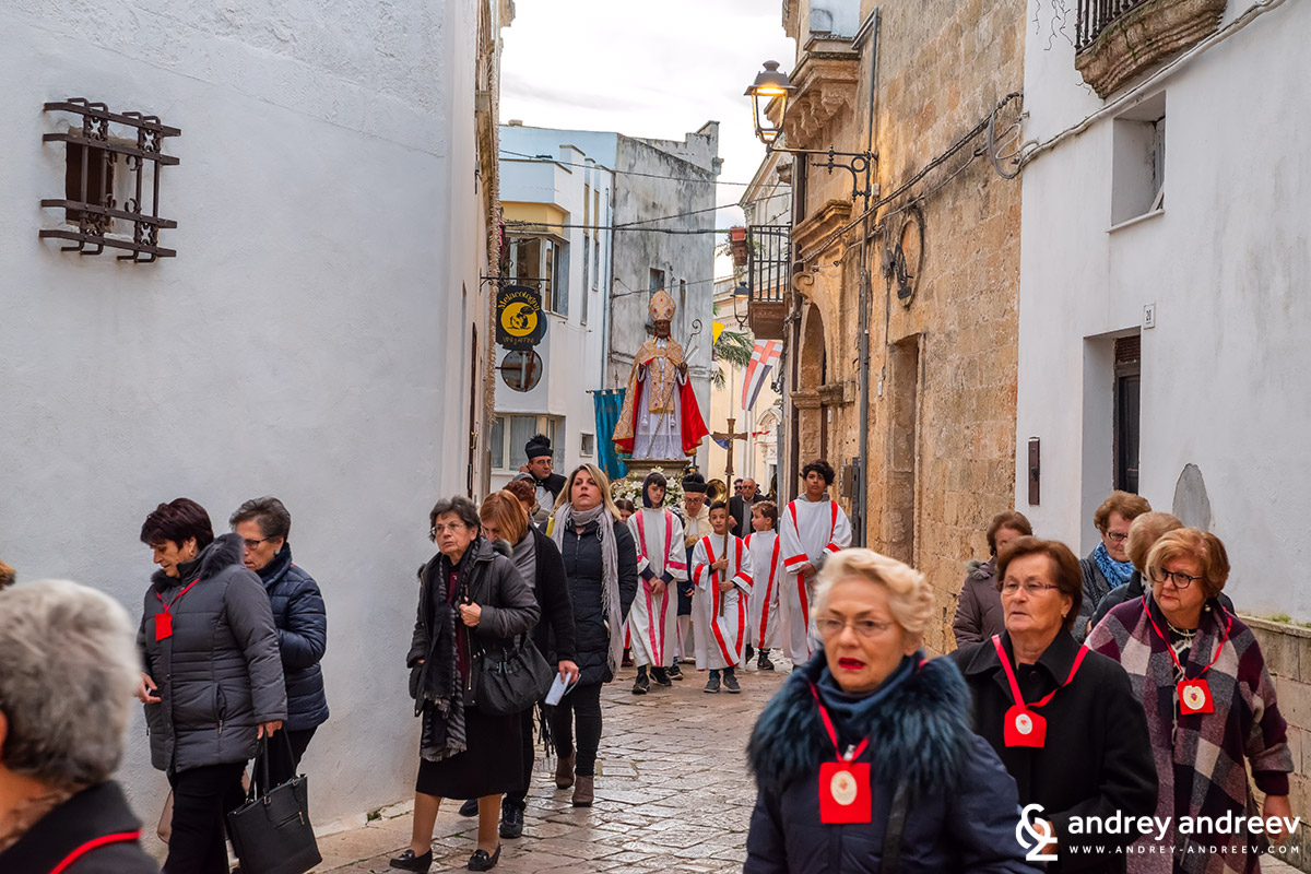 Procession for St. Nicholas day in Salve, Salento