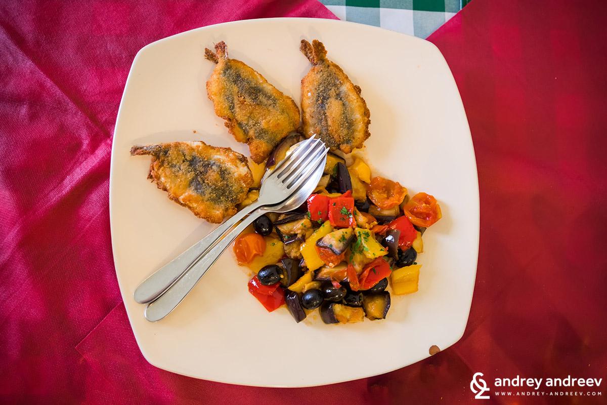 Едно от ястията в Trattoria il borghetto