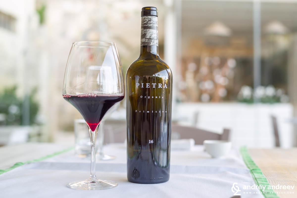 Pietra - 100% Primitivo Organic 2016 от винарна Менхир