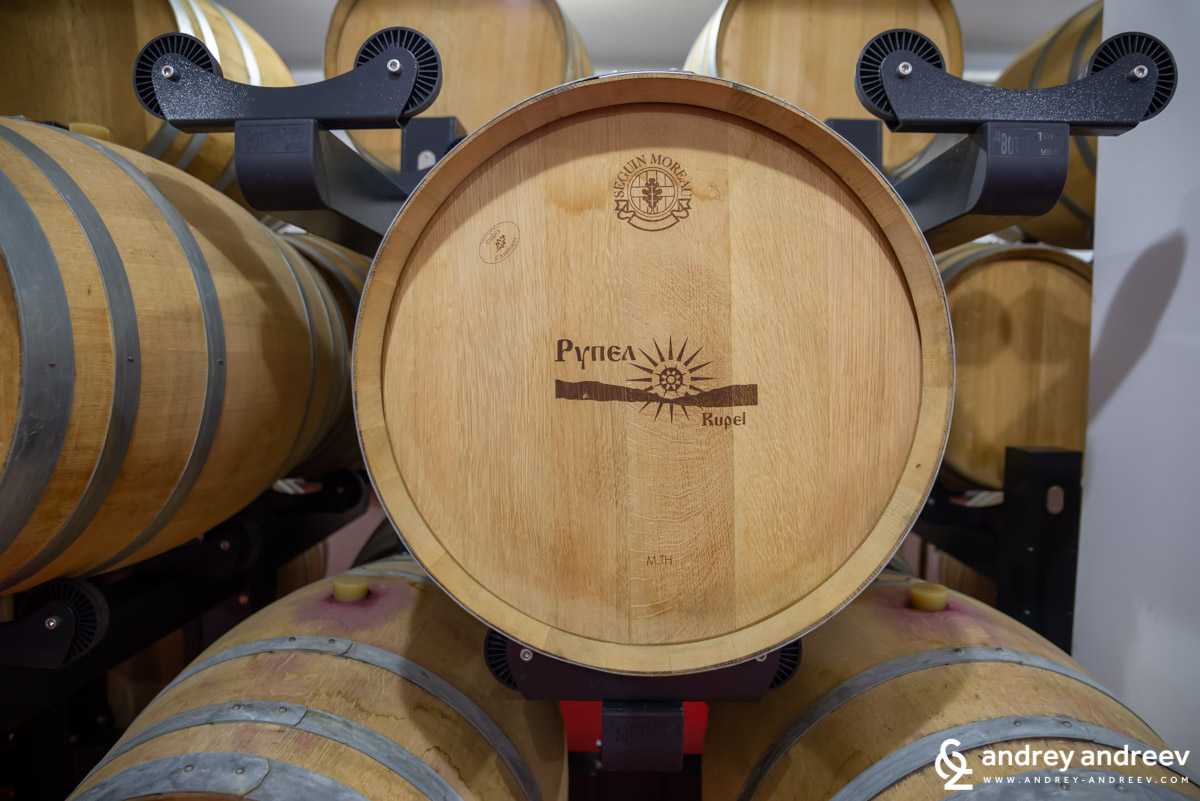 The barrels of Rupel Winery, Bulgaria