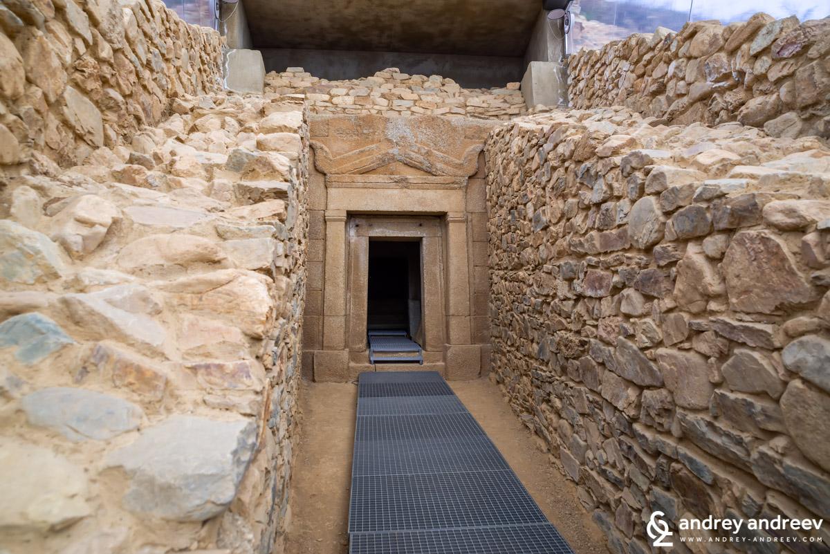 The dromos of the Griffins tomb near Kazanlak, Bulgaria