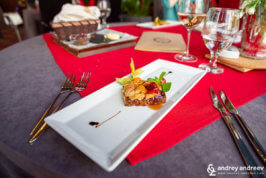 Foie Gras at Best Boutique hotel restaurant in Stara Zagora, Bulgaria