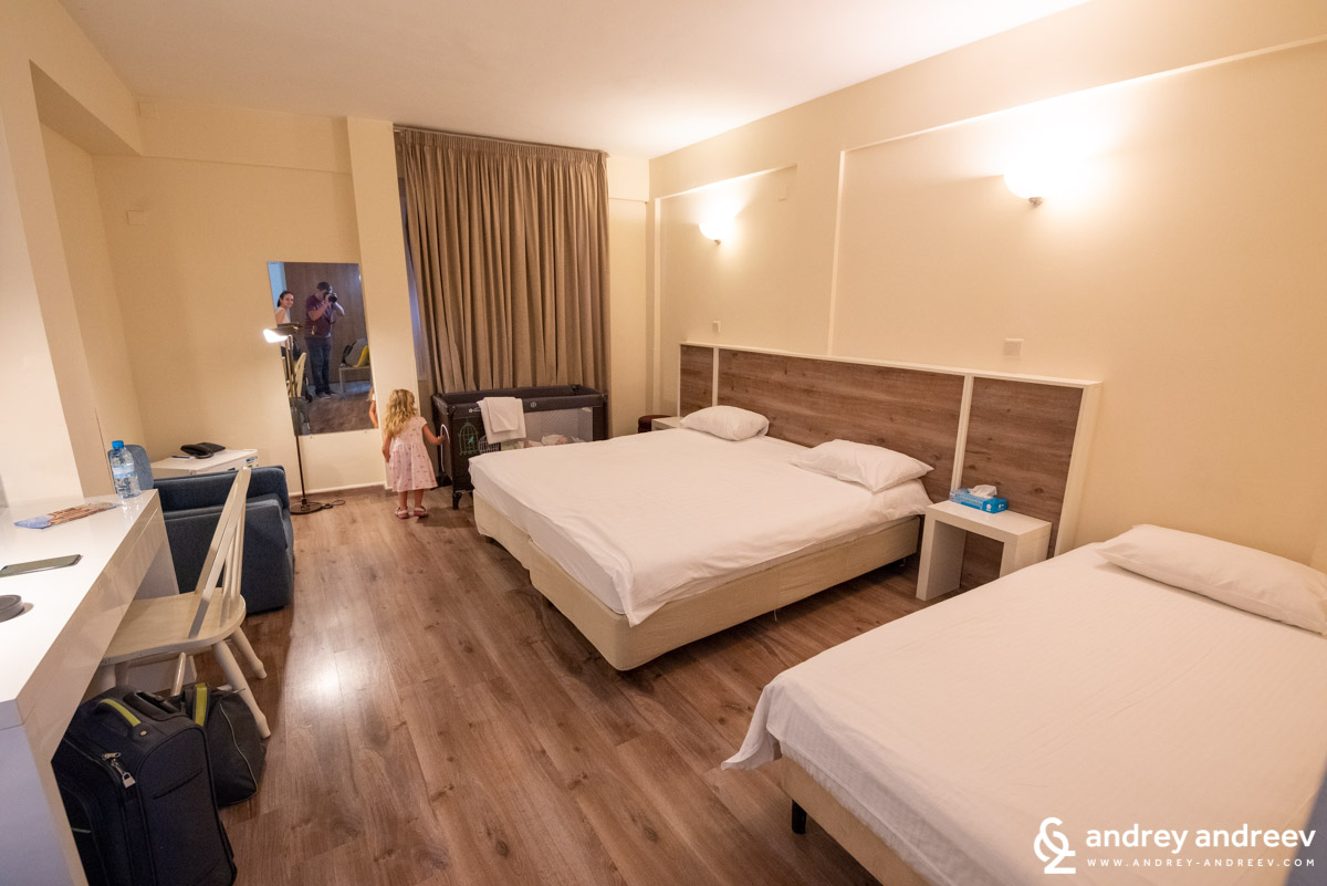 Our cozy and spacious room at Centrum Hotel in Nicosia, Cyprus