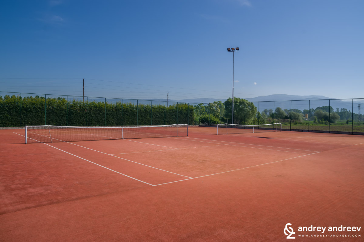 Tennis courts at Uva Nestum, Bulgaria