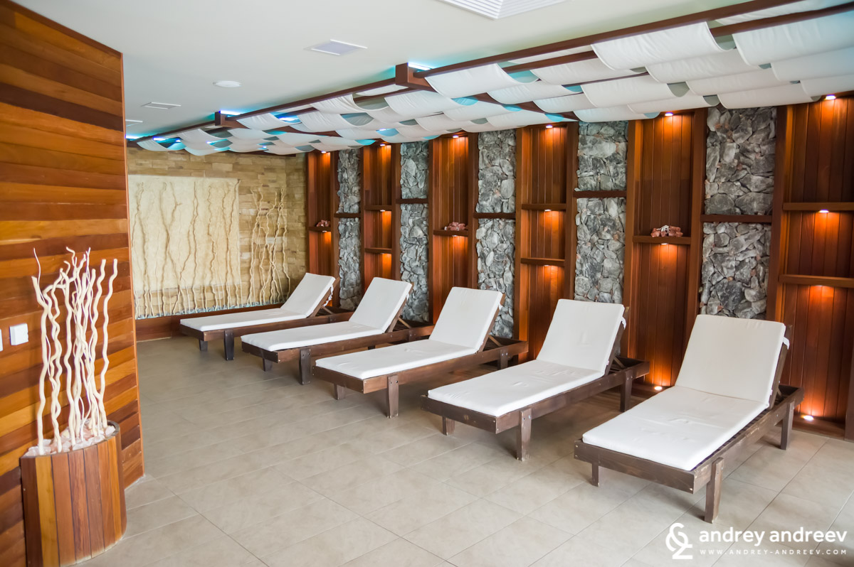 Salt room for relax in the Uva Nestum Spa center
