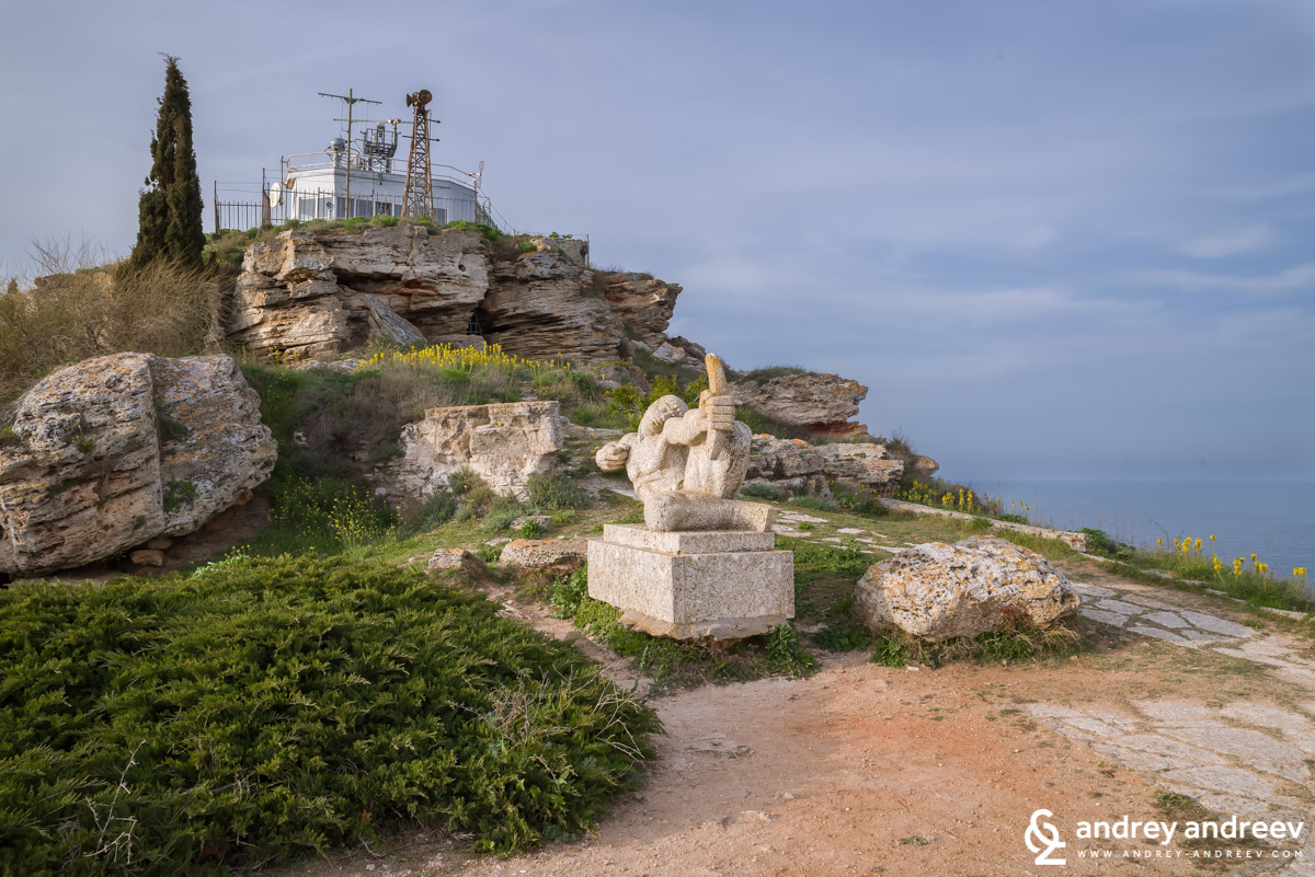 The lighthouse and military base on Cape Kaliakra, Bulgaria