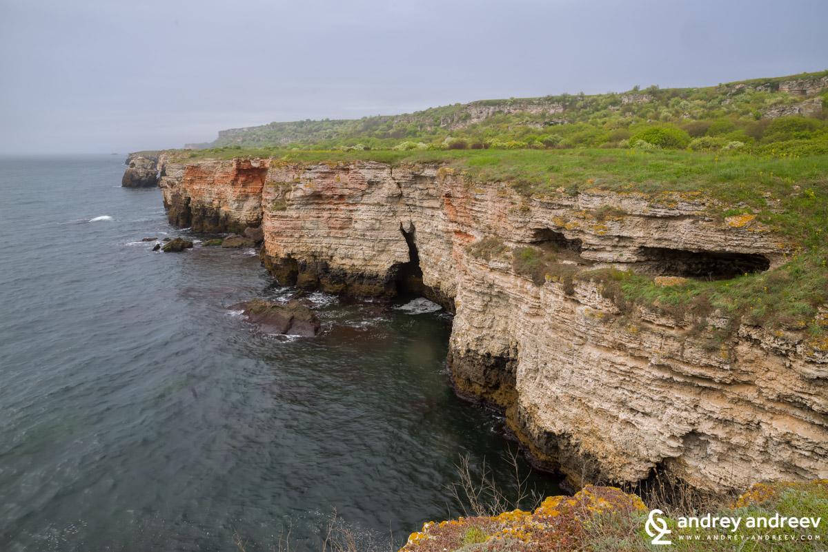 Каменистия бряг на платото и скални ниши
