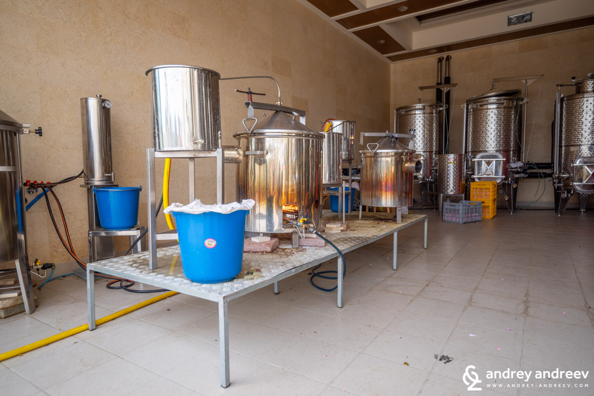At first we thought this was how zivania was made, but it appeared to be a rose distillation