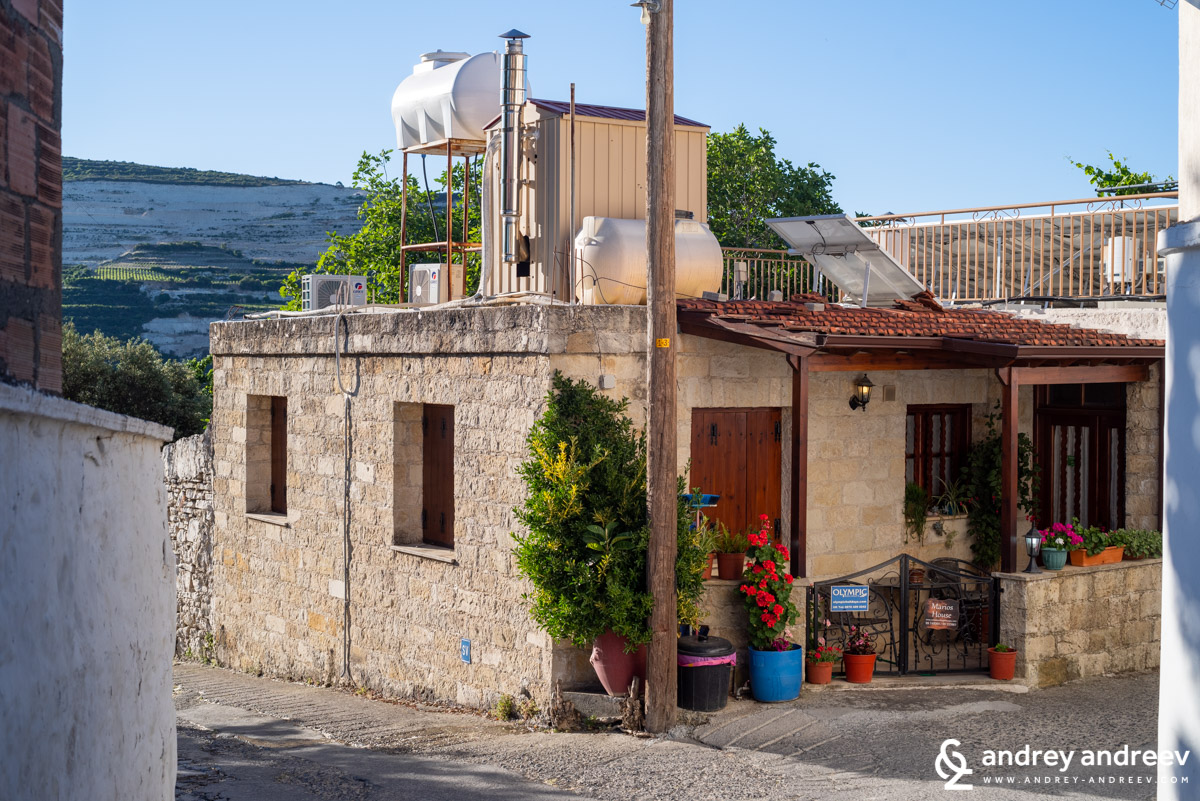 Marios house in Omodos village, Cyprus