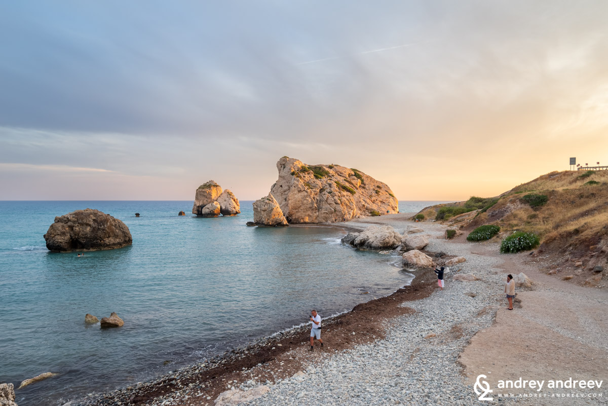 The rock of Aphrodite (Aphrodite's rock, Petra tou Romiou in Cyprus)