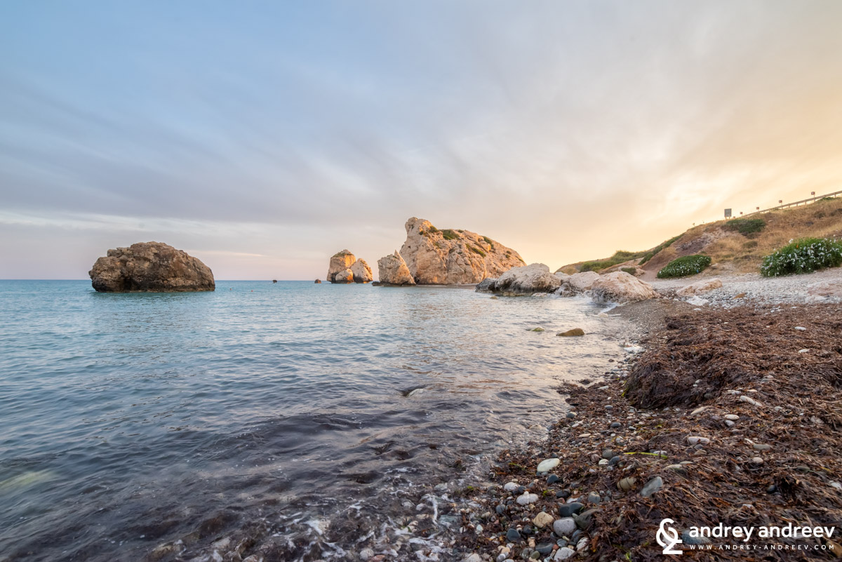The rck of Aphrodite on sunset, Aphrodite's Rock, Cyprus - Petra tou Romiou