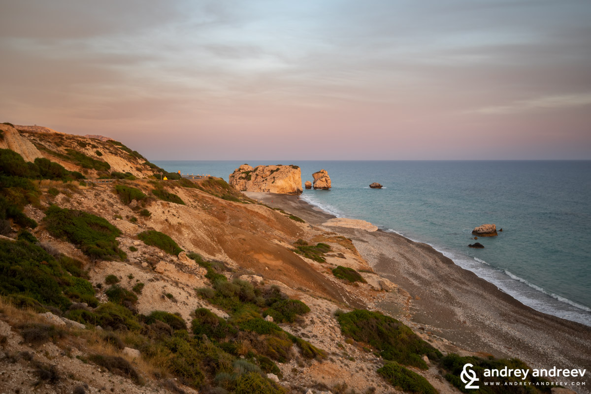 A view from the road to Aphrodite's Rock in Cyprus