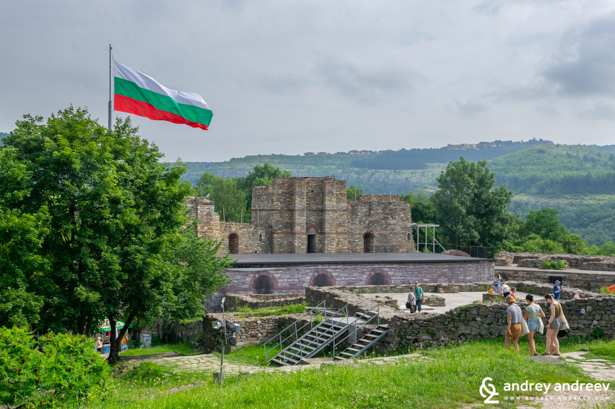 The remains and some restored parts of the royal complex on Tsarevets, Veliko Tarnovo