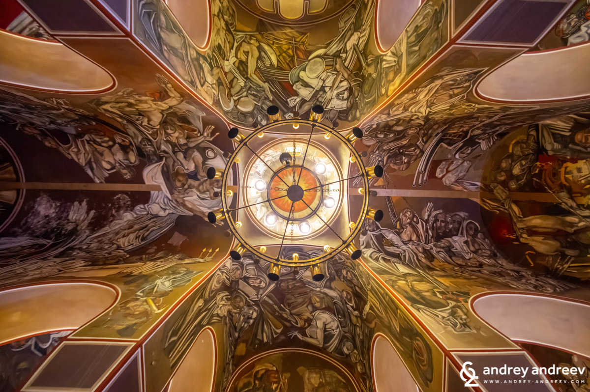 The ceiling of the church Ascention of Christ in Veliko Tarnovo, Bulgaria