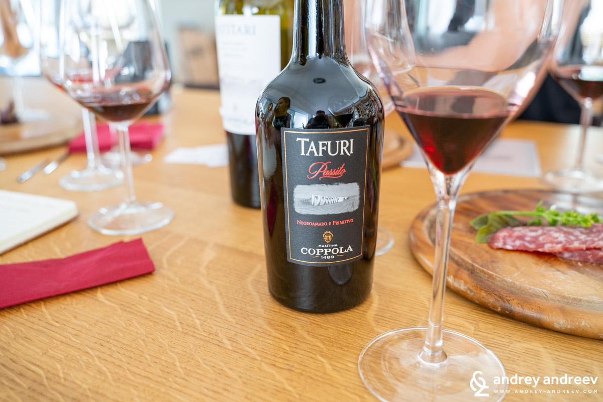 Напоследък изследваме десертните вина с голямо любопитство и това наистина ни спечели вниманието -Tafuri Passito Salento IGT Rosso Primitivo e Negroamaro