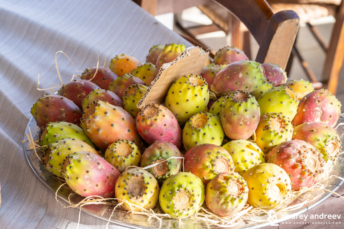 Prickly pears, or cactus fruits, or Indian figs