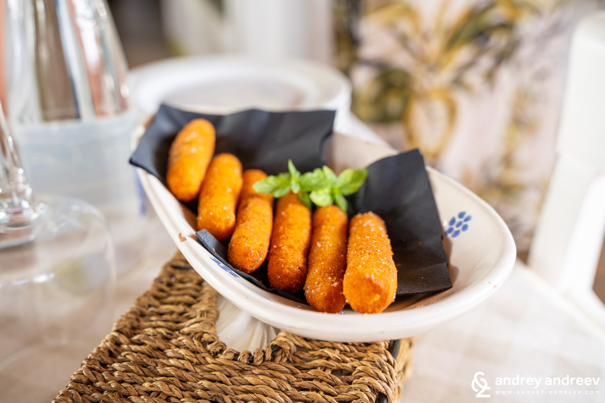 Panzerotti - traditional potato croquettes, very popular apetizer across Salento