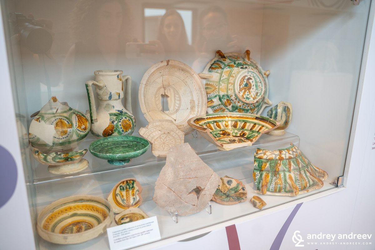 Beautiful artifacts in the ceramics museum in Cutrofiano, Salento, Puglia, Italy